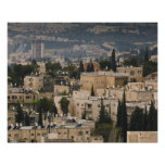Elevated city view from Jerusalem YMCA tower Posters