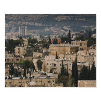 Elevated city view from Jerusalem YMCA tower Poster
