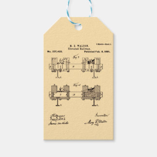 Elevated Railway - Mary Walton, Inventor Gift Tags