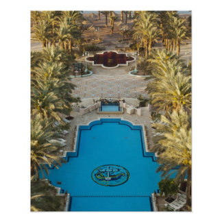 Elevated view Herods Palace Hotel swimming pool Poster