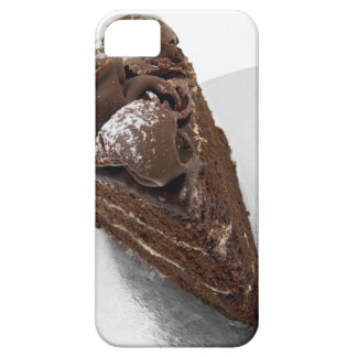 Elevated view of a piece of chocolate cake iPhone 5 cover