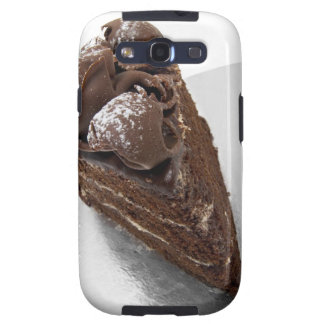 Elevated view of a piece of chocolate cake galaxy s3 case