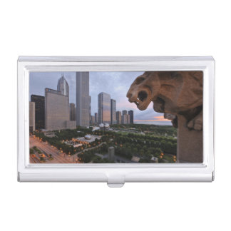 Elevated View of Milennium Park Business Card Holder