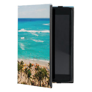 Elevated View Of Waikiki Beach Scene, Honolulu 2 iPad Mini Cover