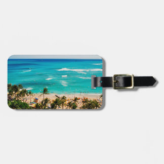 Elevated View Of Waikiki Beach Scene, Honolulu 2 Luggage Tag