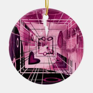 Elevator Down Abstract Round Ceramic Decoration
