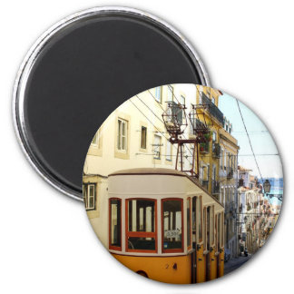 Elevator of the Pipe, Lisbon, Portugal 6 Cm Round Magnet