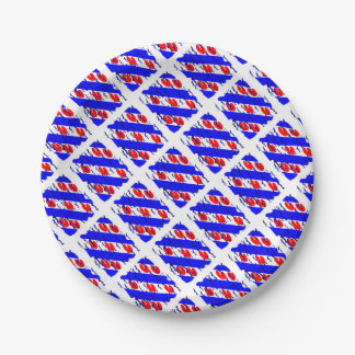 Eleven cities excursion 7 inch paper plate