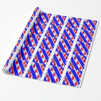 Eleven cities excursion wrapping paper