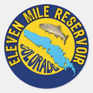 Eleven Mile Reservoir, Colorado Classic Round Sticker