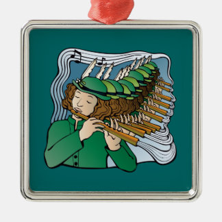 Eleven pipers piping metal ornament
