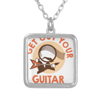 Eleventh February - Get Out Your Guitar Day Silver Plated Necklace
