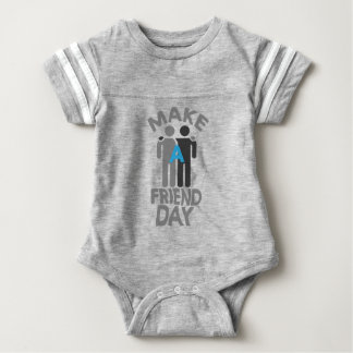 Eleventh February - Make a Friend Day Baby Bodysuit