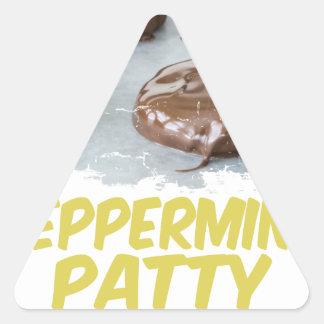 Eleventh February - Peppermint Patty Day Triangle Sticker