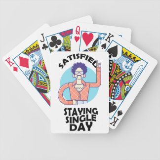 Eleventh February - Satisfied Staying Single Day Poker Deck