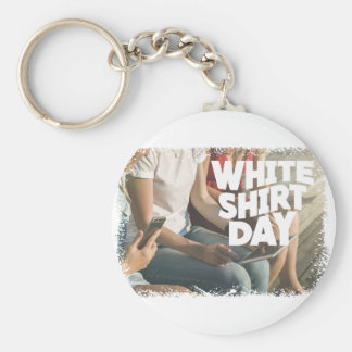 Eleventh February - White Shirt Day Key Ring