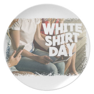 Eleventh February - White Shirt Day Plate