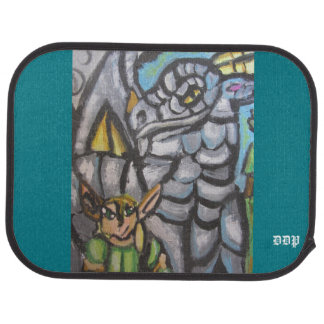 elf and dragon art one car mat