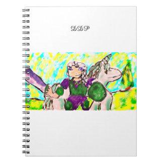 Elf and unicorn notebook