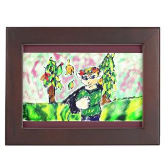 Elf art two keepsake box
