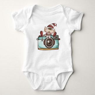 "Elf Baby ""Elf With Camera"" Baby Body Baby Bodysuit"