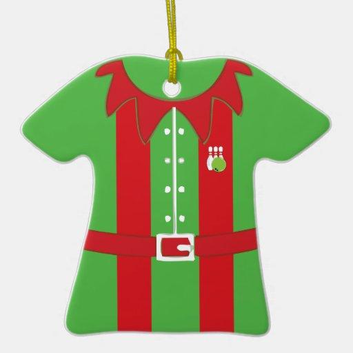elf bowler bowling shirt ornaments