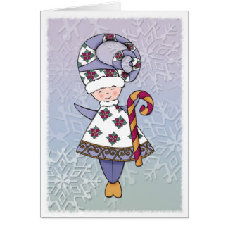 Elf Candy Cane Card