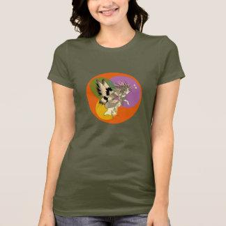 Elf Cartoon Girly Colorful Bright Circle Orange T-Shirt