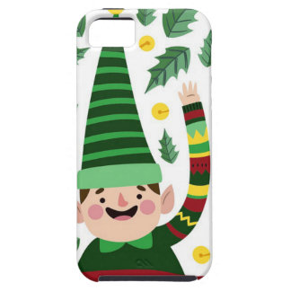 Elf Christmas Green Hat Leaves Cute Greeting iPhone 5 Cases