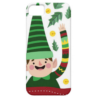 Elf Christmas Green Hat Leaves Cute Greeting iPhone 5 Cover
