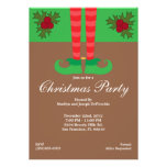 Elf Feet Christmas Party Invite Holiday