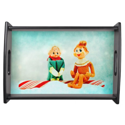 Elf First Date Service Tray