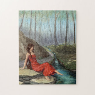 Elf Girl in a Fantasy Forest Puzzle