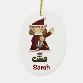 Elf girl ornament