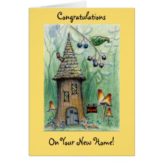 """Elf House"" Happy New Home Greeting Card"