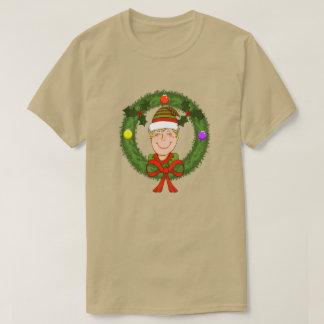 Elf in Wreath Mens T-Shirt
