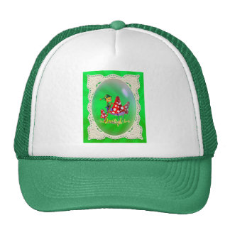 ELF, LACE AND LIGHT RAYS by SHARON SHARPE Trucker Hats
