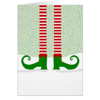 Elf Legs Christmas Card