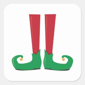 Elf Legs Square Sticker