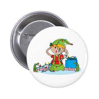 Elf Lights 6 Cm Round Badge
