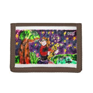 Elf night art tri-fold wallets