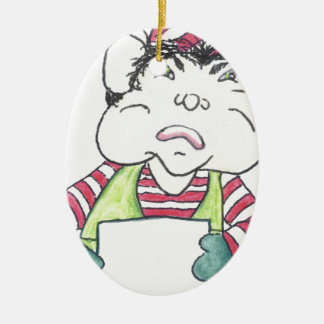 ELF OFF the angry elf. Ceramic Ornament