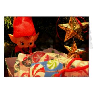 Elf Ornament & Christmas Present Card