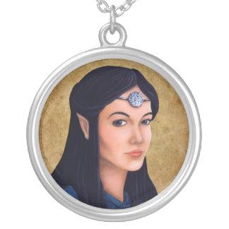 Elf Princess Round Pendant Necklace