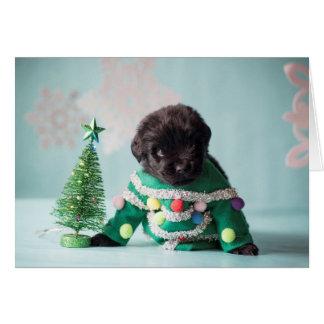 Elf Puppy Greeting Card