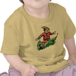 Elf Sitting On Christmas Tree Shirts