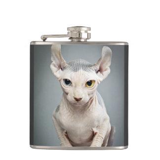 Elf Sphinx Cat Photograph Hip Flask