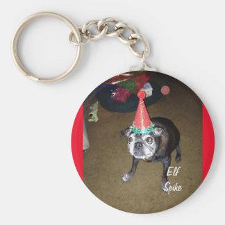 Elf Spike Basic Round Button Key Ring