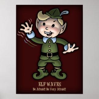 Elf Waves - Afraid! Poster