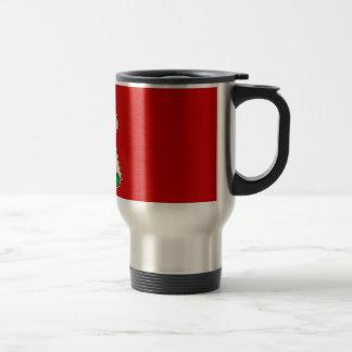 elf with merry christmas sign coffee mugs